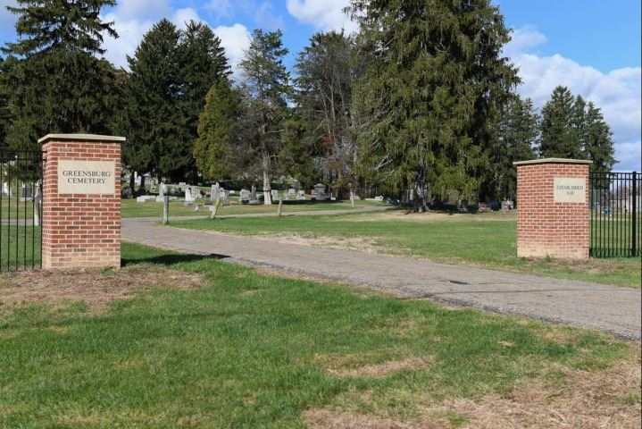 Greensburg Cemetery Entrance