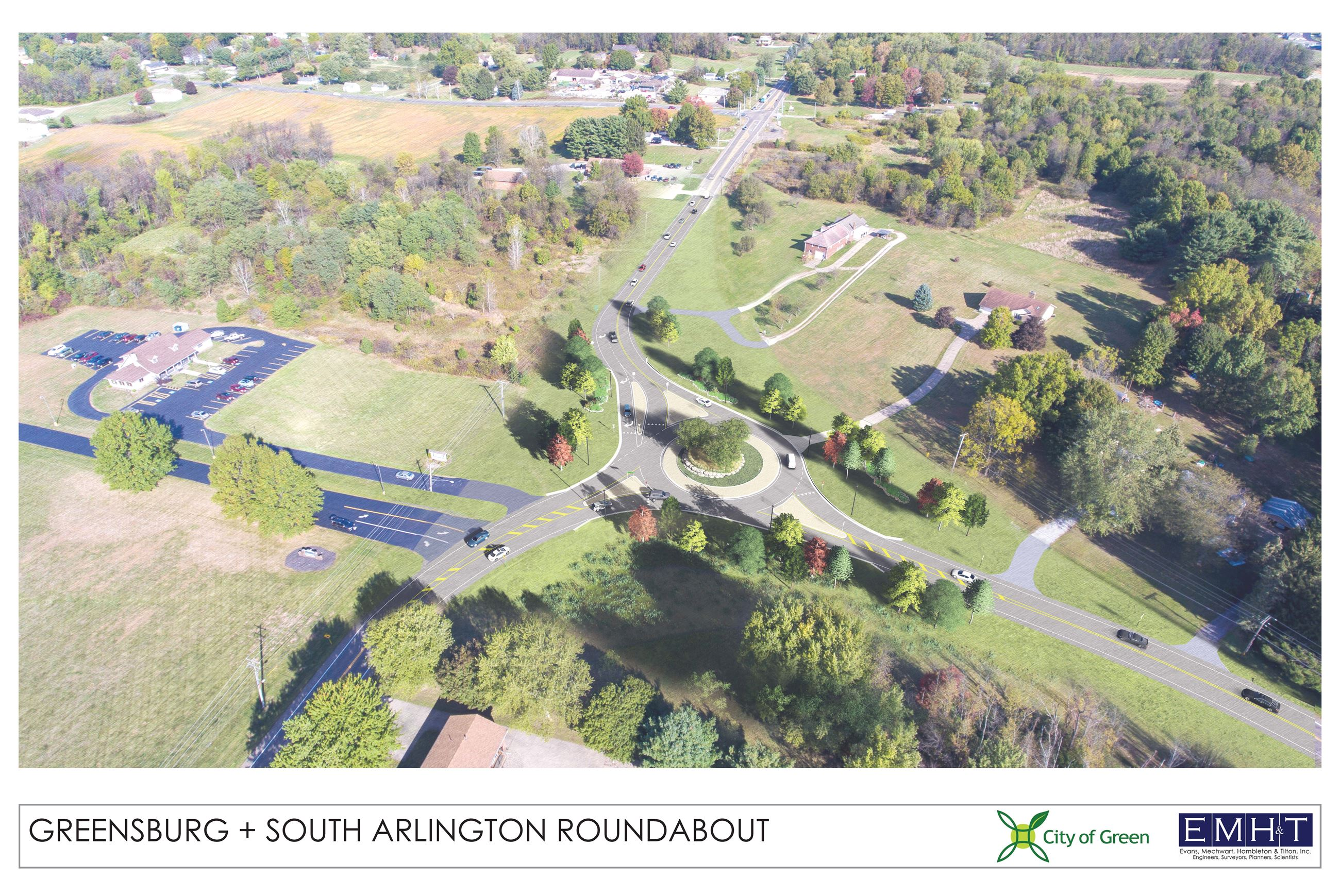 Greensburg-Arlington North view Aerial